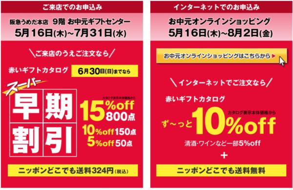 阪急百貨店のお中元2019年早期割引